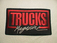 TRUCKS MAGAZINE TRACTOR TRAILER CAB SEMI 18 WHEELER RIG FREIGHT TRUCK PATCH NEW