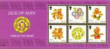 Isle of Man Miniature sheet 2013 Year of the Snake mnh Ist printing