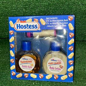 2004 Hostess Twinkies Bubble Bath Body Lotion & Lip Balm Box Set - NEW