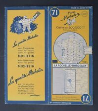 Carte MICHELIN old map n°71 LA ROCHELLE BORDEAUX 1950 Guide Bibendum pneu tyre