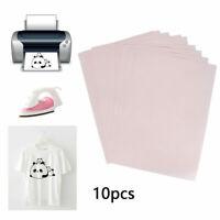 10Pcs A4 Heat Press Transfer Paper T-Shirt Iron-on Fabric Inkjet Printer Mug DIY