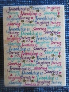 rubber stamp friendship background inkadinkado