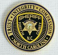 Forsyth County NC Sheriff Challenge Coin Police Medallion