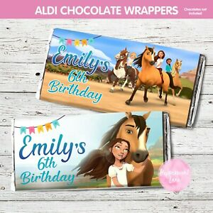 DIGITAL or PRINT SPIRIT HORSE CHOC CHOCOLATE WRAPPER ALDI BIRTHDAY PARTY 1ST