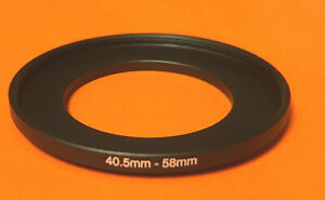 1 (ONE) Step-Up FILTER-RING-ADAPTER 40.5mm to 58mm 40.5-58 mm 40.5-58mm METAL
