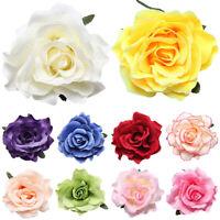 DIY Headdress For Bridal Wedding Flocking Cloth Rose Flower Hairpin Hair Clip