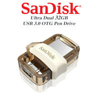 SanDisk Ultra 32GB Dual Drive m3.0/USB3.0 for Computers and Android Devices Gold