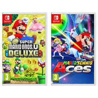 Nintendo Switch New Super Mario Bros U Deluxe and Mario Tennis Aces