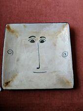 "Dish / Tray by John A Taylor, Signed JAT Handmade Whimsical Art Pottery dish. 8"""
