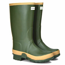 WOMENS VINTAGE GREEN GARDENER HUNTER WELLIES WELLINGTONS RAIN BOOTS SIZE 8