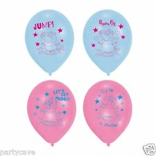 6 * 27.5cm Peppa Pig Pink Blue Helium Latex Balloons Birthday Party 997378