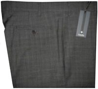 $395 NEW ZANELLA ITALY DEVON GRAY & BLACK SUPER 120'S WOOL MENS DRESS PANTS 38