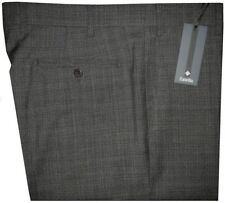 $395 NEW ZANELLA DEVON GRAY & BLACK SUPER 120'S WOOL MENS DRESS PANTS 38