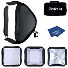 Phot-R 50cm Folding Softbox Diffuser Hotshoe Flash Speedlight Microfibre Cloth
