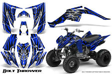 YAMAHA RAPTOR 350 GRAPHICS KIT CREATORX DECALS STICKERS BOLT THROWER BLUE