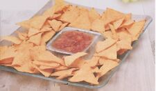 26cm Square Serving Platter Chip And Dip Dish Bowl For Crackers Humus Tapas Meze