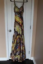 NWD Mary L Couture 100% silk gown maxi dress formal ball prom size 2