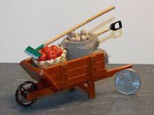 Dollhouse Miniature Garden Wheelbarrow Reutter Porcelain 1:12 one inch scale Y40