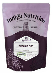 Indigo Herbs Organic Whole Figs 500g - 1kg Sun Dried