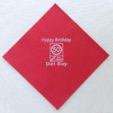 Art de la table de fête rouge anniversaire-adulte pour la maison