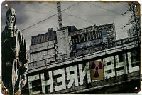 Chernobyl Sign USSR Nuclear Plant Accident Pripyat Soviet Union 80s retro old us
