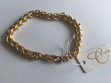 CAPIZ FABULOUS GOLD ROPE TWIST LINK LOBSTER CLAW ONE PIECE BANGLE GLAM BRACELET