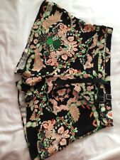 RIVER ISLAND Ladies Black/Orange/Multi Culottes Skirt size 14 BNWT RRP £30 - 5