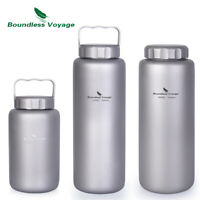 Titanium Water Bottle Leakproof Outdoor Large Capacity Sports Canteen 1050/600ml