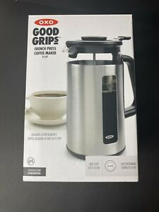 Oxo Brew 8-Cup French Press with GroundsLifter Built-in Cleaner, 11108600