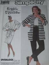 SIMPLICITY #7895- LADIES BUTTON DOWN JACKET-PULL ON SKIRT & PANTS PATTERN 6-12uc