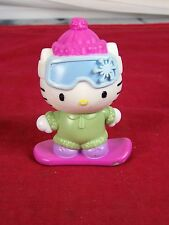 "SANRIO HELLO KITTY MCDONALDS BOBBLE HEAD SNOWBOARD FIGURINE 3.75"" TALL PLASTIC"