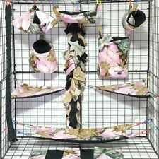 Pink Mossy Oak *15 Pc Sugar Glider Cage set * Rat * double layer Fleece