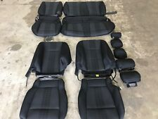 FACTORY OEM CLOTH SEAT COVER COVERS EBONY BLACK 2018 FORD F150 SUPER CREW