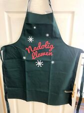 Welsh NADOLIG LLAWEN Christmas SNOWFLAKE DESIGN cotton APRON (Adult), Wales
