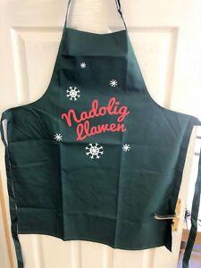 Welsh NADOLIG LLAWEN Christmas SNOWFLAKE DESIGN cotton APRON (Adult), Wales