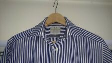 "Mens Harvie & Hudson shirt 15.5"" L excellent condition double cuffs"