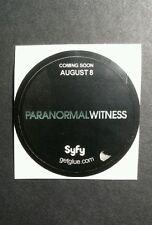 """PARANORMAL WITNESS SYFY B&W SHOW TV SMALL 1.5"""" GETGLUE GET GLUE STICKER"""