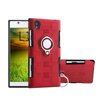 For Sony Xperia L1 XZ1 XA1 Ultra Hybrid Ring Stand Case Hard Phone Back Cover
