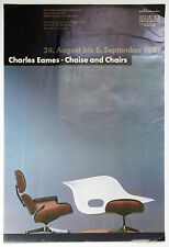 Charles Eames - Lounge Chair - Chaise and Chairs - O.-Plakat - Frankfurt  1991