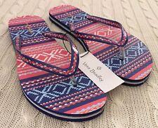 fcfa3cdc88dc8d Vera Bradley Flip Flops Bright Serape Stripe Women Size 7