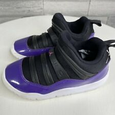 Nike Air Jordan 11 Retro Size 11.5C Little Flex TD Toddler Black And Purple