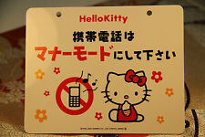 PANNEAU D'AVERTISSEMENT HELLO KITTY Japonais JAPAN Warning Sign NO MOBILE PHONE