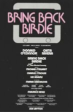 CHITA RIVERA with DONALD O'CONNOR in BRING BACK BIRDIE the 1981 flyer/mailer