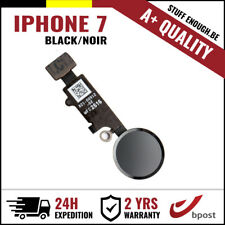 A+ Home Replacement Button Bouton Assembly & Flex Cable Black For iPhone 7