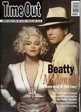 TIME OUT London Magazine 1990 WARREN BEATTY & MADONNA Emo Philips @ NEAR MINT @