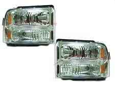 For 2005-2007 Ford F-250 350 450 550 Super Duty Headlight Driver & Passenger