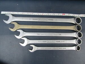 Lot of 5 Williams Superrench SAE Combination Wrenches 11/16 13/16 7/8 15/16 1