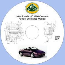 Lotus Elan M100 1990 Onwards Factory Workshop Manual