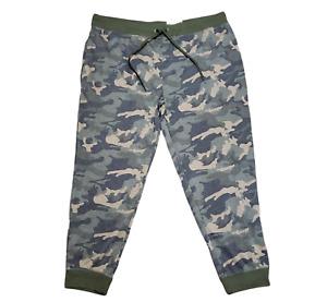 Fruit Of The Loom Men's Size 2XL Green Camo Jogger Sleep Pants Double Knit NWT