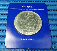 1977 Malaysia 9th South East Asia Games Commemorative $25 Ringgit Silver Coin